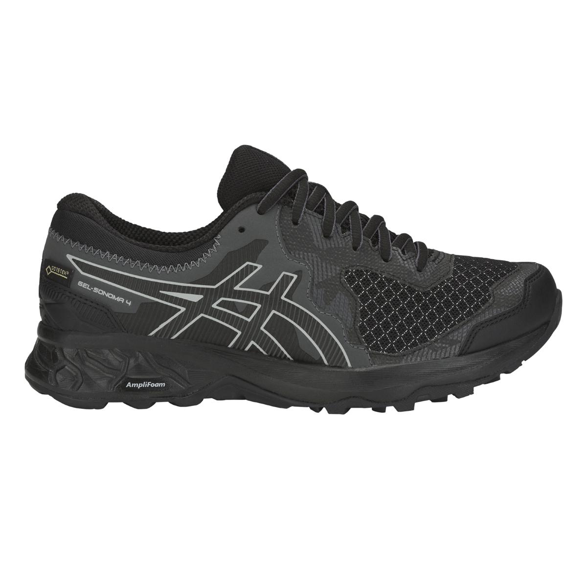 Asics gel Sonoma 4 G-TX-señora zapatillas-Running-negro-gris - 1012a191