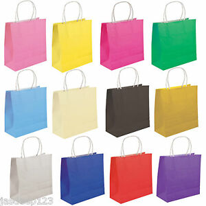Party Gift Coloured Paper Bags With Handles Wedding