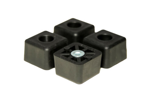 TWENTY CUBE SQUARE RUBBER FEET INDUSTRIAL AMPS FREE S/&H  USA 20 CASES