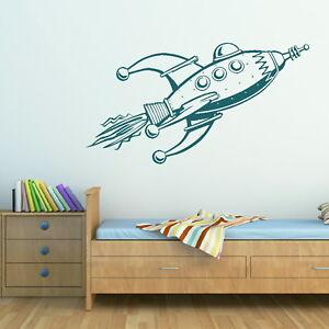 Details about Rocket Boys Wall Sticker / Bedroom Art Interior Decor / Boys  Wall Transfer bn13