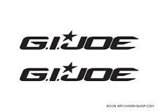 (2x) New G.I.JOE Movie Sticker Die Cut Decal Self Adhesive Vinyl GI Joe GIJoe