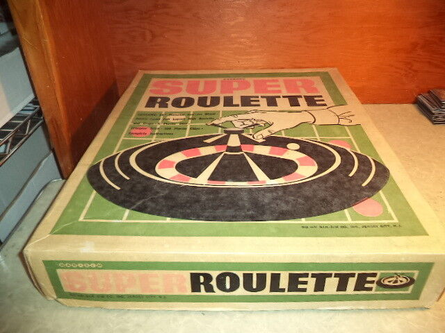 16  Super Roulette w  Craps -Bar-Zim Great Vintage Game Set Nice Complete