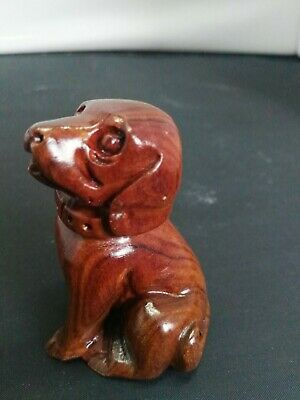Orient Rare Old Collectibles Handwork Boxwood Carving Lovely Smile Pig Netsuke