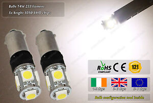 Ba9s-T4W-Bayonet-LED-SMD-Warm-White-Flash-Strobe-Side-Lights-Parking-Bulbs-12v