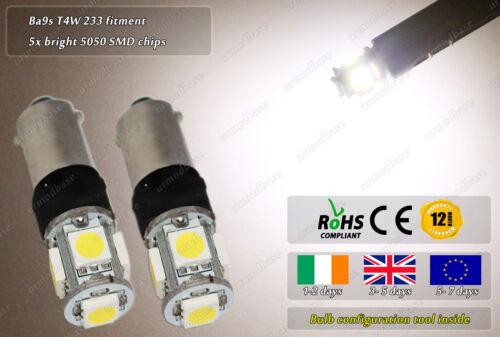 Ba9s T4W Bayonet LED SMD Warm White Flash Strobe Side Lights Parking Bulbs 12v