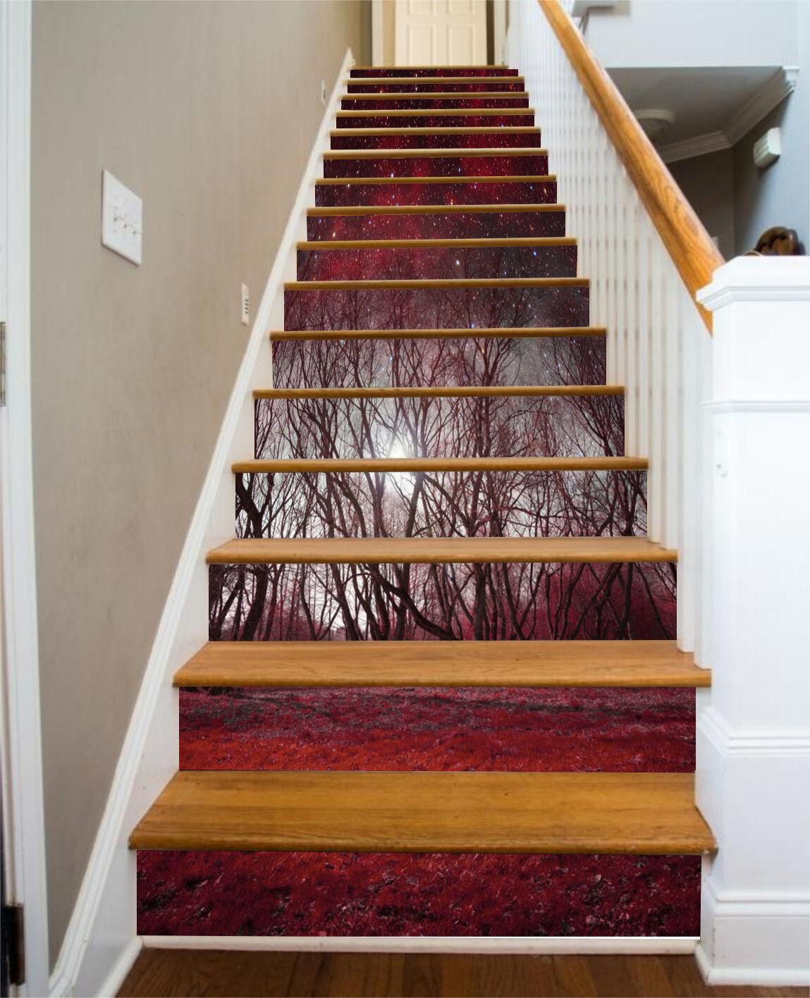 3D rot woods 7 Stair Risers Decoration Photo Mural Vinyl Decal Wallpaper UK