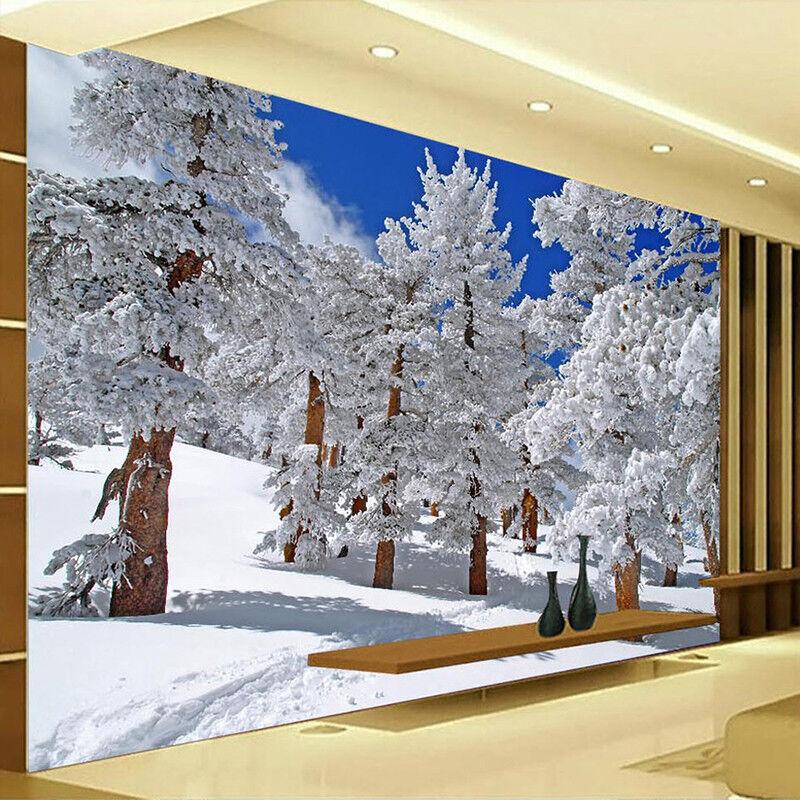 3D Weißer Schneebaum 73 Tapete Wandgemälde Tapete Tapeten Bild Familie DE