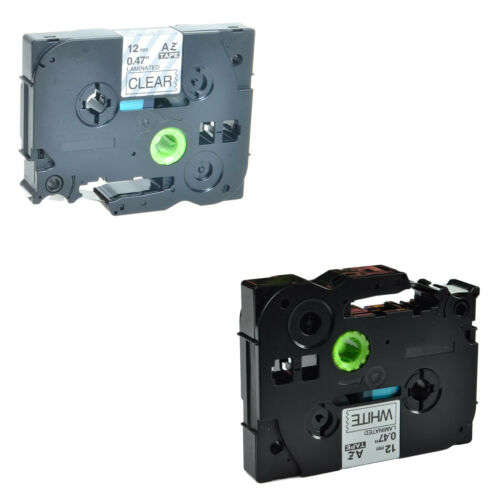 2PK Label Tape TZ131 TZ231 1//2/'/' Set For Brother P-touch 18RKT 1900 2500PC 2030