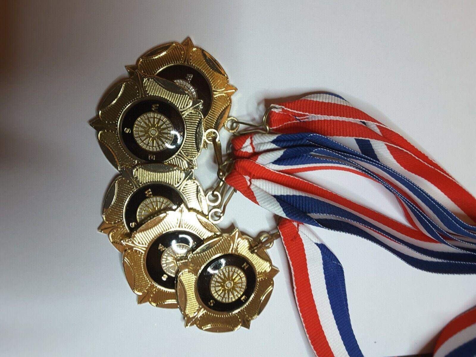 New Award medals inc ribbons x12