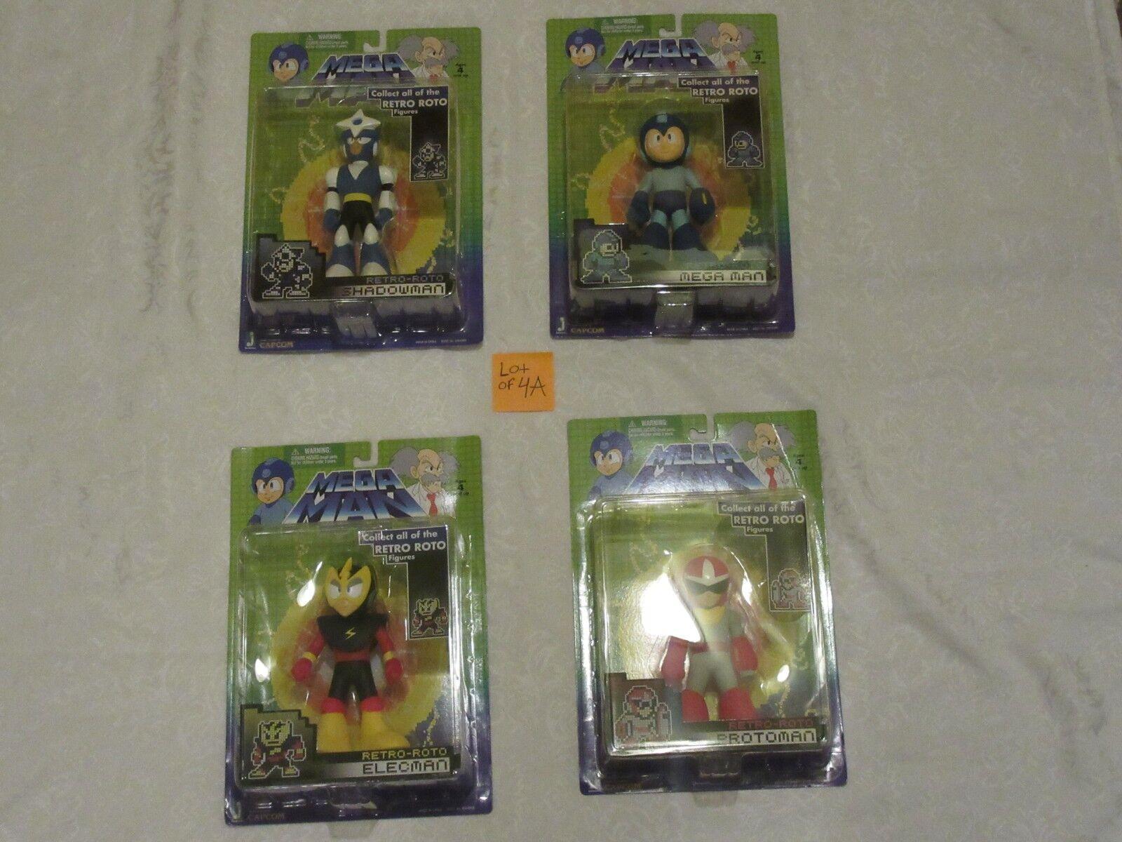 precios razonables Jazwares Jazwares Jazwares Mega Man Conjunto de 4 figuras un Retro Roto 2018 Protoman Elecman Shadowman  muchas sorpresas