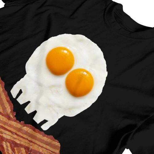 1Tee Kids Boys Pirate Bacon Crossbones Eggs Skull T-Shirt