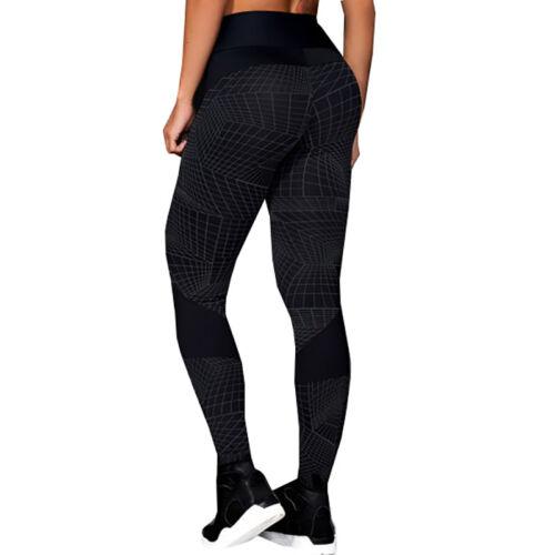 Damen Yogahosen Fitness Gym Leggins Kompression Hohe Taille Jogging Legging Hose