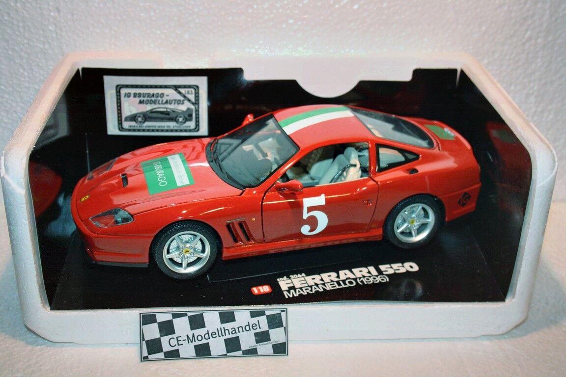 Ferrari 550 Maranello   5  bourses Modèle 1997  Bburago  1 18