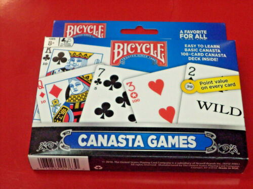 Canasta Bicycle Playing Cards Game Set That Includes 2 Decks Playing Cards New!