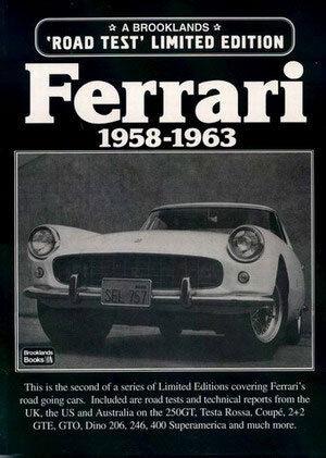 FERRARI BOOK ROAD TEST PORTFOLIO BROOKLANDS TESTA ROSSA GTO 250GT CALIFORNIA