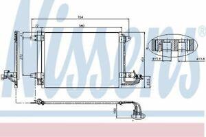 Nissens-A-C-Condensador-94684-OE-Calidad-Para-AUDI-A3-VW-Golf-Mk5-6-Jetta-Touran