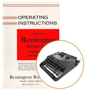 INSTRUCTION MANUAL for REMINGTON REMETTE Typewriter Antique Rand Vtg
