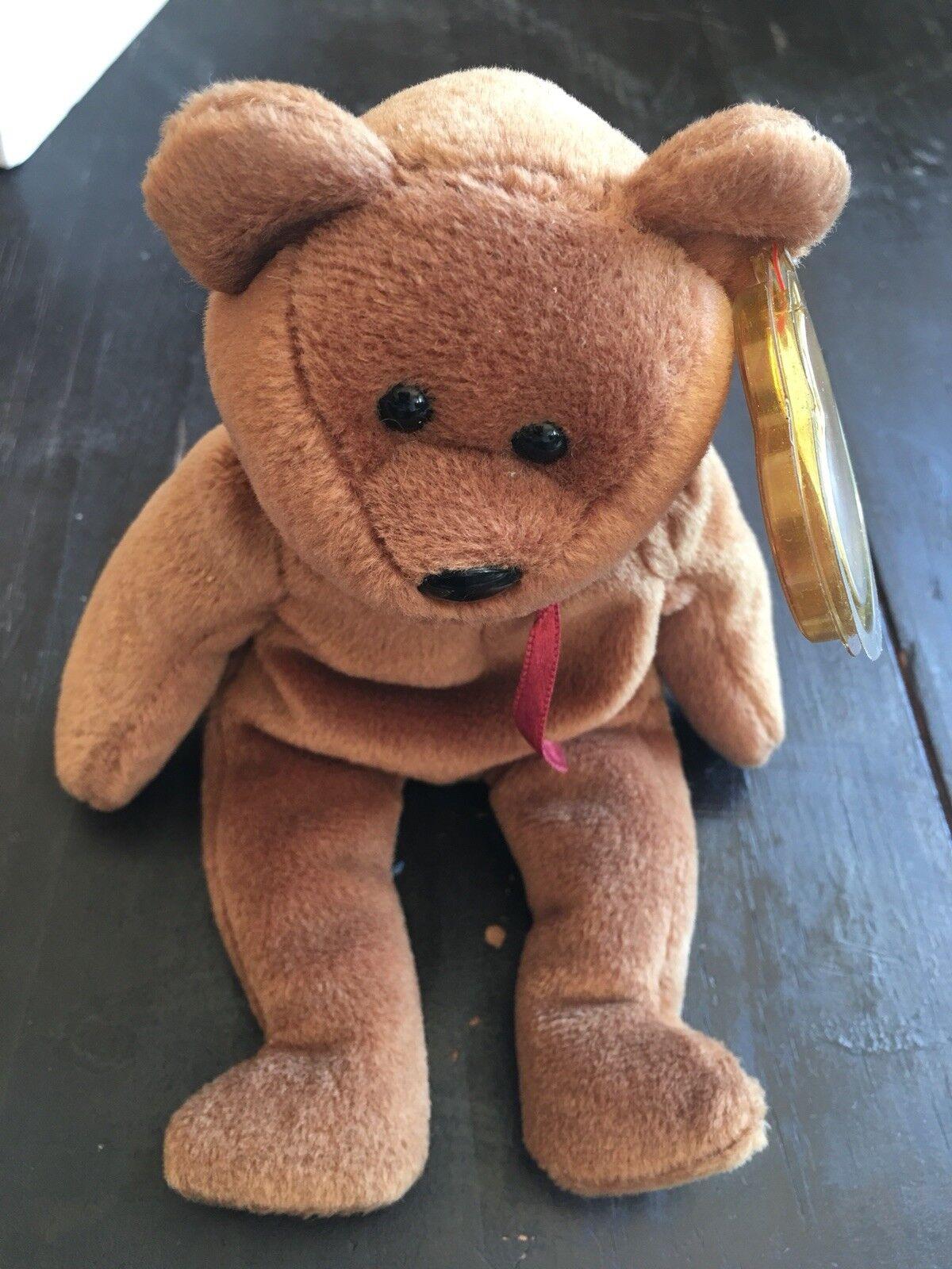 Rare TY TY TY Beanie Baby Retired PVC Teddy 1993 85e939