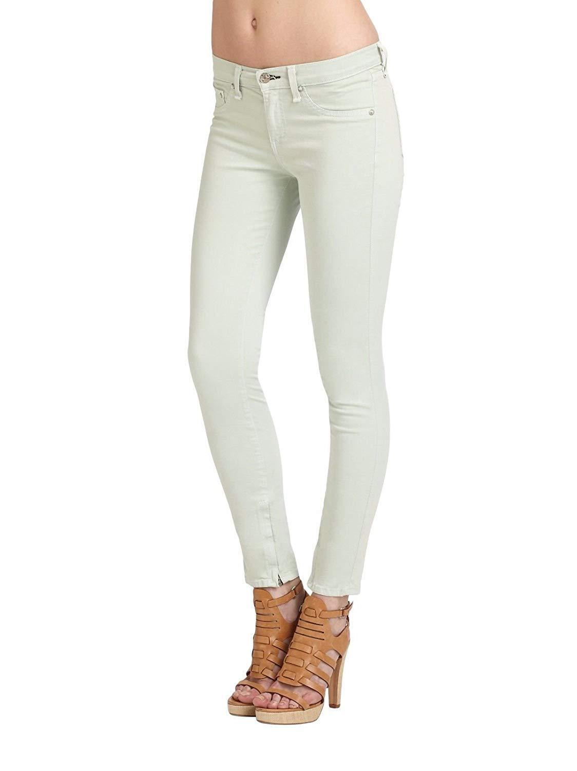Rag & bone Distressed Mint Crop Jeans
