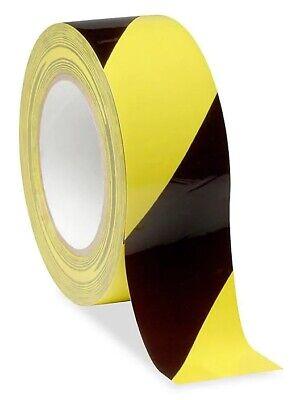 Bodenmarkierungsband Klebeband PVC Warnklebeband 50mm  Schwarz Abstand Gelb