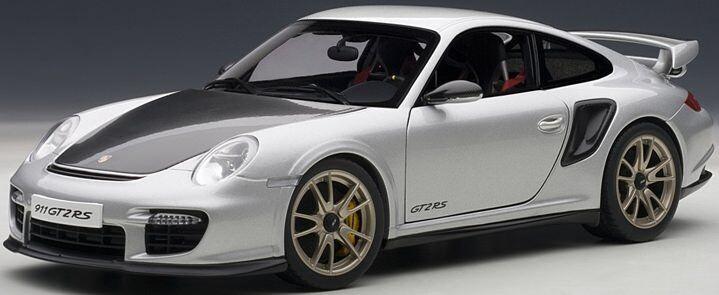 bilkonst 7961 Porsche 911 (997) GT2 RS i silver 1 18 NEU OVP