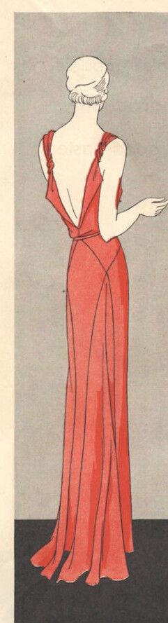 1931 Vintage Vogue-schnittmuster B34 Kleid (1035)   eBay