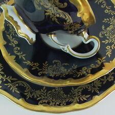 Kaffeegedeck Katharina -  Weimar Porzellan   - Kobaltblau & Gold (3)