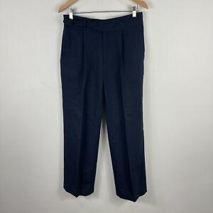 Uniqlo-Ines-Da-La-Fressange-Womens-Pants-Size-W27-Blue-Wool-Blend
