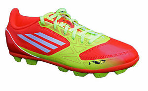 687d752fc New Boys Adidas F5 TRX HG Red Moulded Stud Football Boots Sizes 1