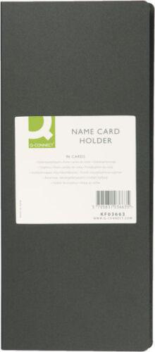 Q-Connect Visitenkartenbuch schwarz für 96 Karten Visietenkartenalbum