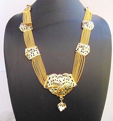 Indian Traditional Gold Plated Necklace Rani Haar Pakistani