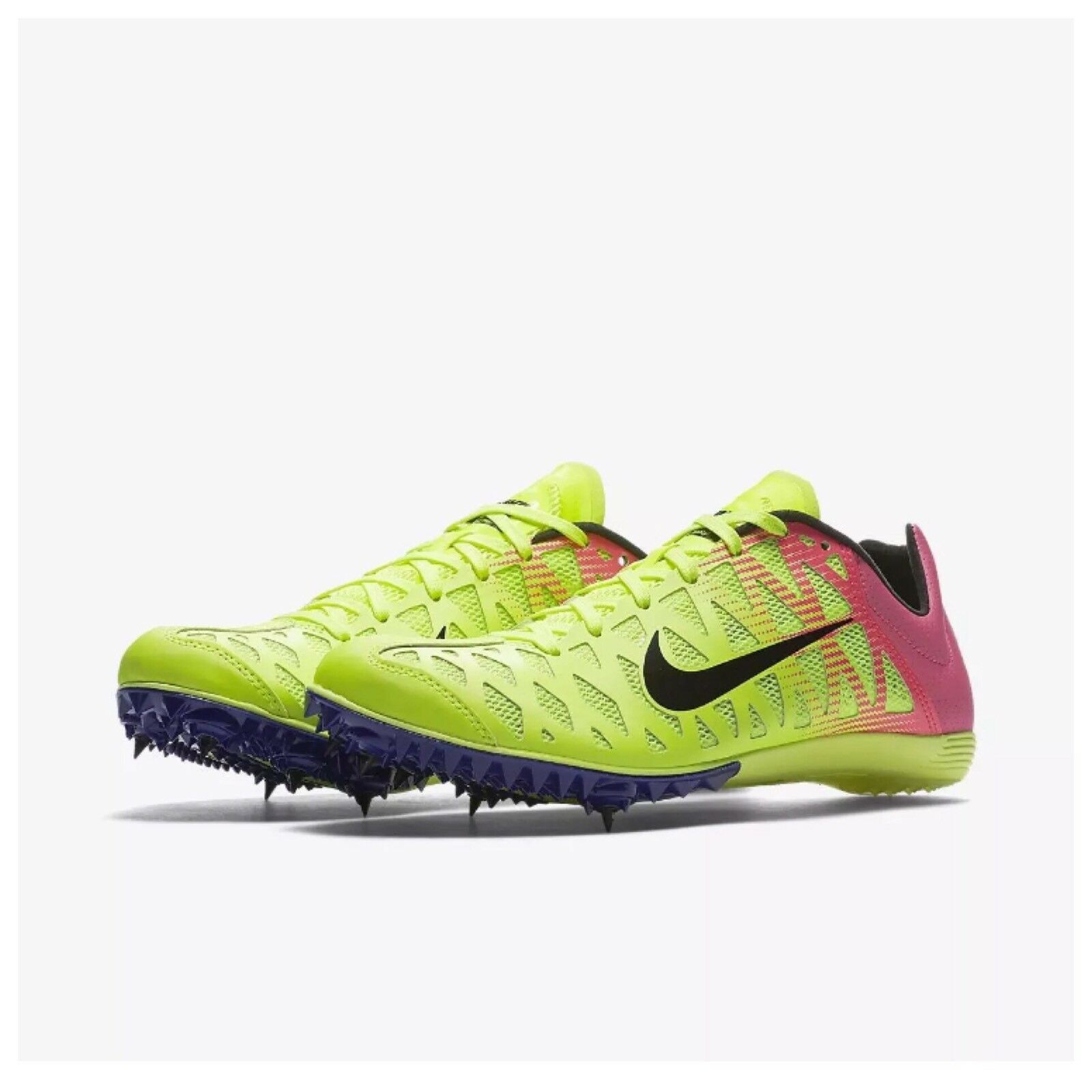 Nike Mens Zoom Maxcat 4 Sprint Track Field Spikes Volt Pink 549150-999 Comfortable