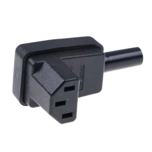 IEC-C13 down angle socket receptacle rewirable female connector plug ZJP