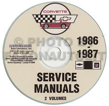 1986-1987 Corvette Shop Manual CD Repair Service Books on CD-ROM Chevrolet Chevy