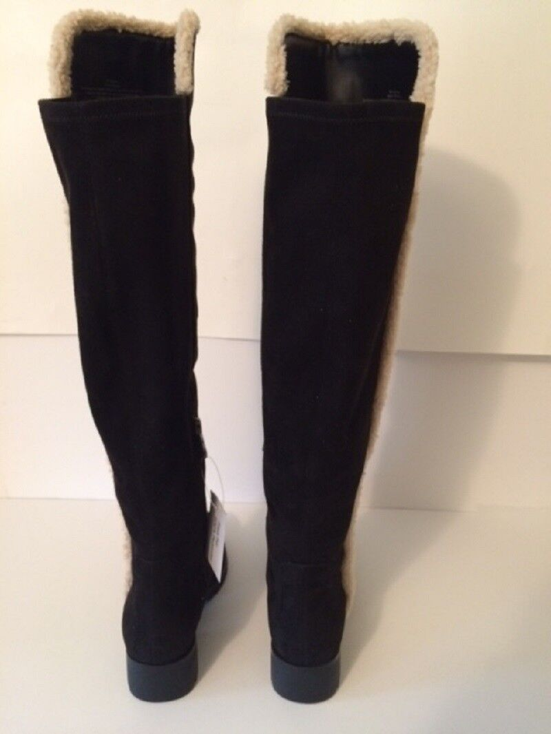 NWOB TRIMMED KARL LAGERFELD PARIS BARON 2 FAUXFUR SHERPA TRIMMED NWOB KNEE HIGH S/6 Stiefel e1b0fd