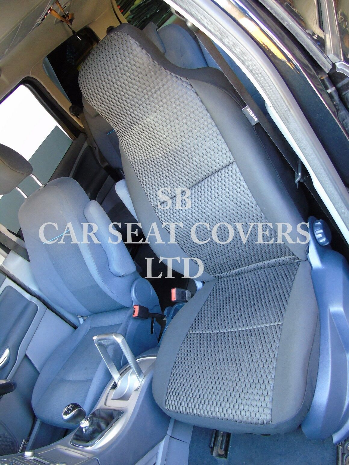 SEAT COVERS YS01 RECARO SPORTS GREY // BLACK TO FIT A CITROEN DS3 CABRIO CAR