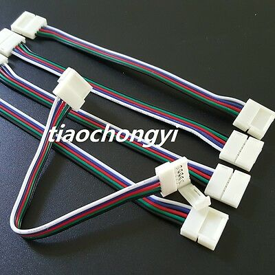 4Pin 5Pin RGB/RGBW Connectors with Cable For 5050 RGB/RGBW LED Strip Light 1-50P