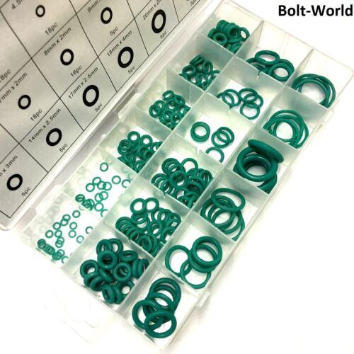 205pc hnbr o ring set assorted pack haute basse température climatisation auto