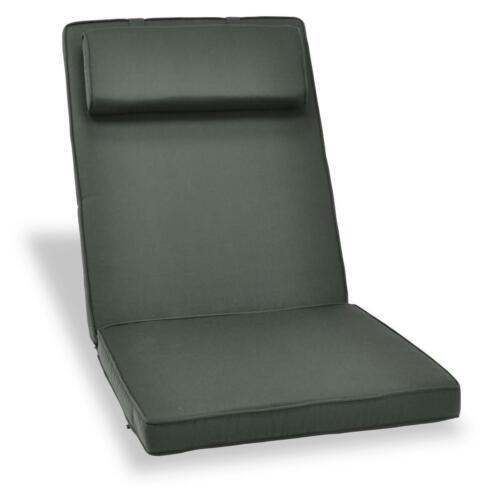 Divero surface d/'assise chaise édition coussin pour dossier haut chaise de jardin en Anthracite