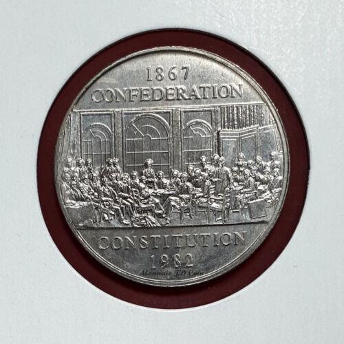 1982 Constitution Canada Nickel Dollar $1 Circulated Coin