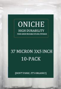 10-Pack-3x5-039-039-in-37-Micron-Oniche-presse-colophane-filtre-sacs-colophane-filtre