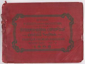 1908 Central New York Volunteer Pompiers Association Programme Owego Ny Feu iGXVayec-09155324-135416774