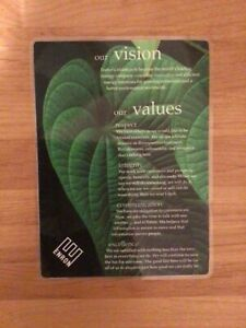 SUPER RARE Authentic ORIGINAL Enron Vision and Values Laminated Placard!