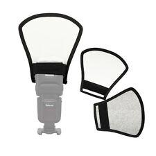 Universal Flash Reflector Light Diffuser Silver & White fr Speedlite Speedlight
