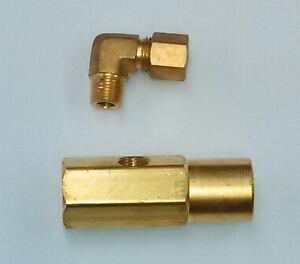 17147 Delavan Nozzle Adapter With Oil Inlet Elbow Waste