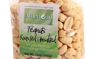 12oz Gourmet Style Bag of Roasted UnSalted Virginian Peanut Runners [3/4 lb.]