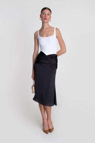 Orseund Iris Romantic Skirt in Black size Small