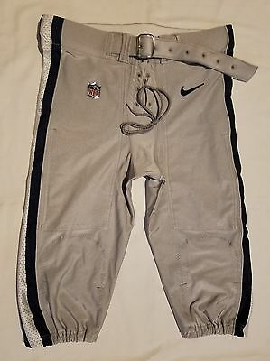 Dallas Cowboys Silver Nike Team Issued Football Pants - Size 42