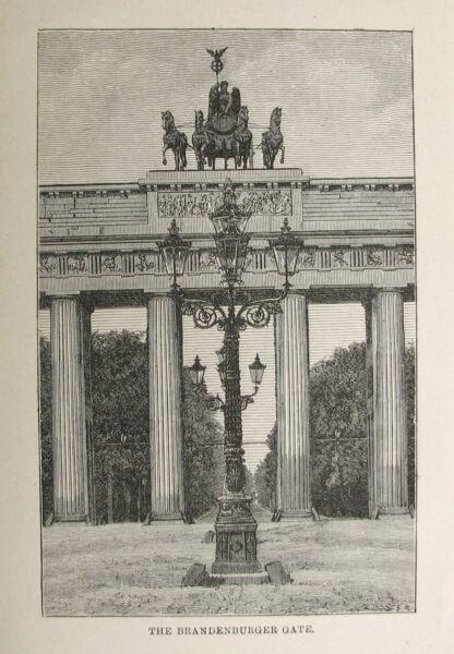 Konstruktiv Berlin Brandenburger Tor. Originaler Holzstich 1890 Extrem Effizient In Der WäRmeerhaltung