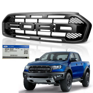 Details About Genuine Front Grille Grill Black Trim For Ford Ranger Raptor Pickup 2018 2019